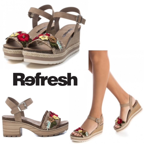 Ladies Summer Wedge Platform Sandals Refresh Heels Espadrilles Shoes Womans Size - 53 Main Street