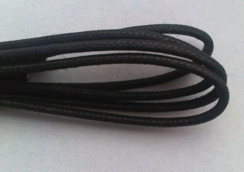 Shoe Lace Black 80cm Fine Round Thin 31 Inch For Dress Shoes Shoelaces New Waxy - 53 Main Street