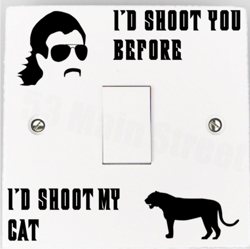 Tiger King Light Switch Sticker Decal Netflix Cat Tiger Funny Lightswitch Vinyl - 53 Main Street