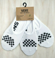 Vans Ladies Socks Trainer Liner 3 Pack No Show Invisibles Gym Checker Board - 53 Main Street