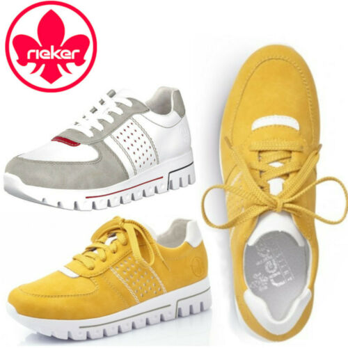 Rieker Trainers Yellow White Anti Stress Soft removable Light Sneaker Comfort - 53 Main Street