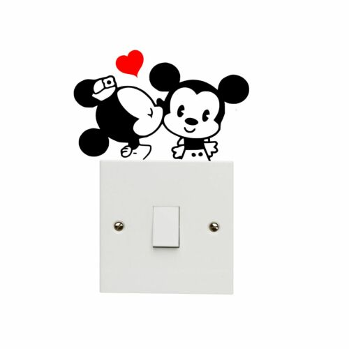 Cartoon Mouse Light Switch Decal Vinyl Sticker Mickey Minnie Love Kiss Kissing - 53 Main Street