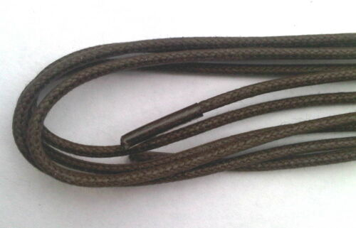 Shoe Laces Brown 80cm Fine Round Thin 31 Inch Dress Shoes Waxy Shoelaces Waxed - 53 Main Street