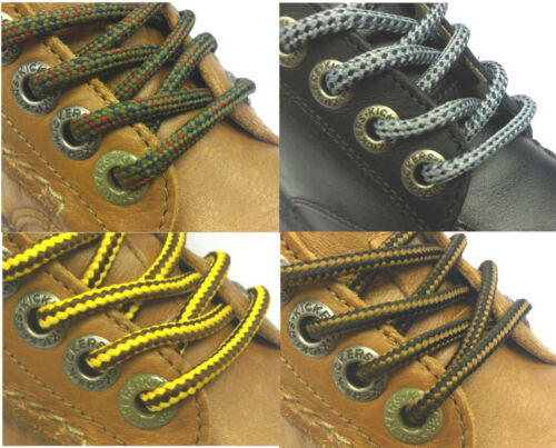 Boot Laces 140 cm 55 in Black Brown Grey Navy Olive Hiking Long Round Shoelaces - 53 Main Street