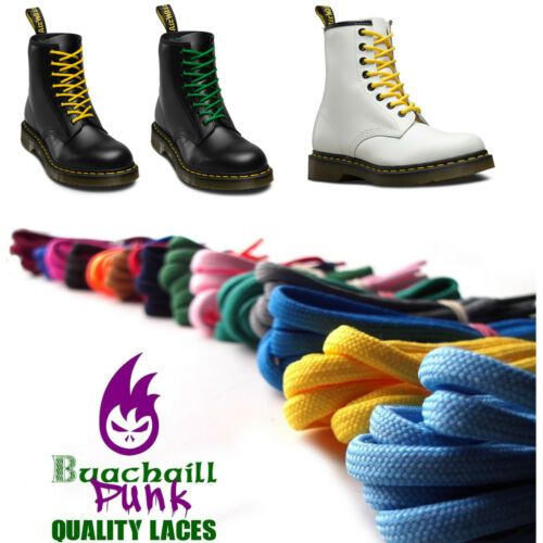 210cm Shoelaces Replacement Dr Martens 1914 Boots Colours Lace Long 12-14 eyelet - 53 Main Street