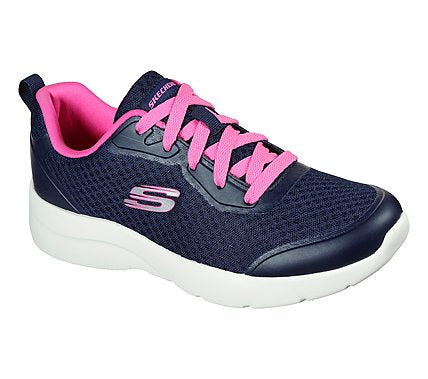 Ladies Skechers Trainers Dynamite 2.0 Navy Laced Memory Foam 149541 NVY