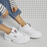 Fila Disruptor II Chunky Trainers White Black Leather - 53 Main Street