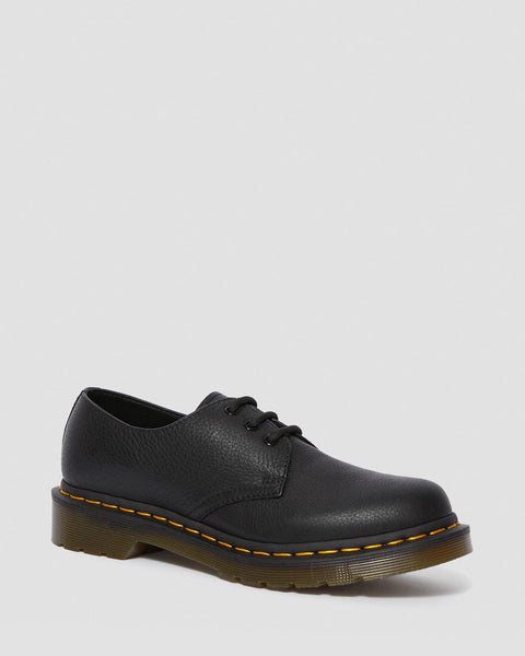 Dr Martens 1461 Virgina Soft LEATHER SHOES Docs Dms BLACK - 53 Main Street