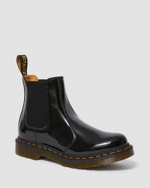 Dr Martens DMs Docs 2976 Black Patent Chelsea Boots Pull On Ladies - 53 Main Street