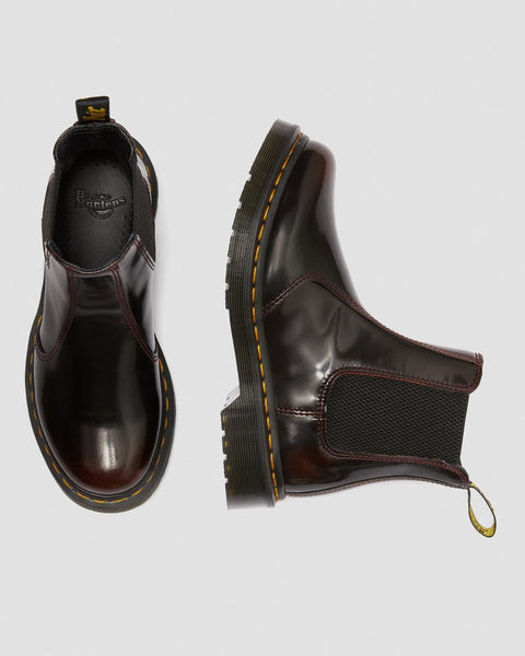 Dr Martens DMs Docs 2976 Cherry Red Arcadia LEATHER Chelsea Boots Pull On Ladies - 53 Main Street