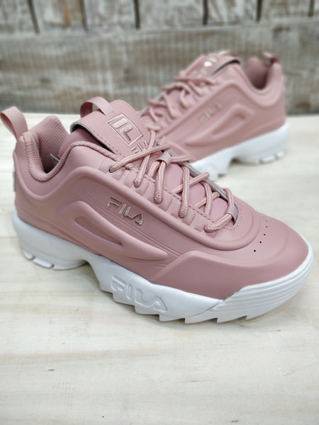 Fila Disruptor II Misty Rose Chunky Trainers Faux Leather - 53 Main Street
