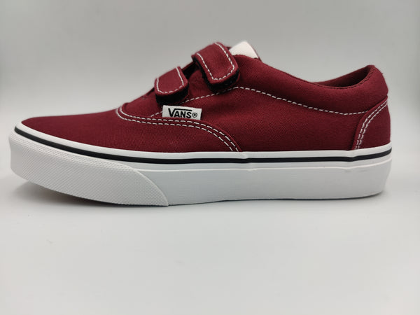Vans Youth Doheny Low-Top Port Royal Red Bordo Strap Suede Canvas