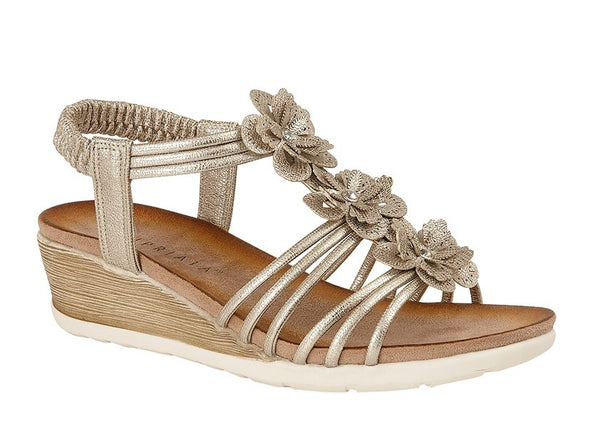 Cipriata Strappy Flower Sandal Soft Summer Wedge - 53 Main Street