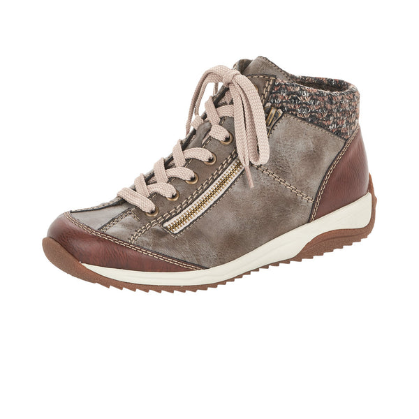Rieker Ladies Taupe Lace Up Ankle Boots Winter L5223-24 - 53 Main Street