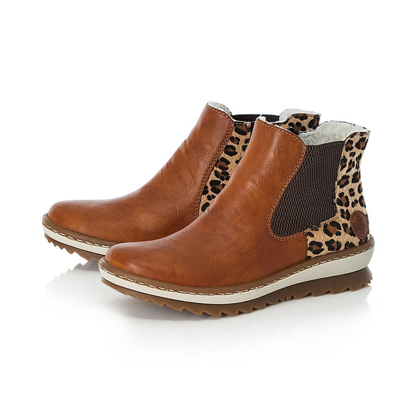 Ladies Rieker Boots Tan Chelsea Boot Pull On Style - 53 Main Street