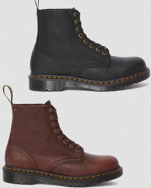 Dr Martens DMs Docs 1460 PASCAL LEATHER ANKLE BOOTS Black Brown - 53 Main Street