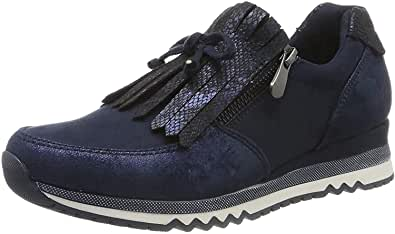 Marco Tozzi Ladies Slip On Sneakers Navy Trainer Tassle - 53 Main Street