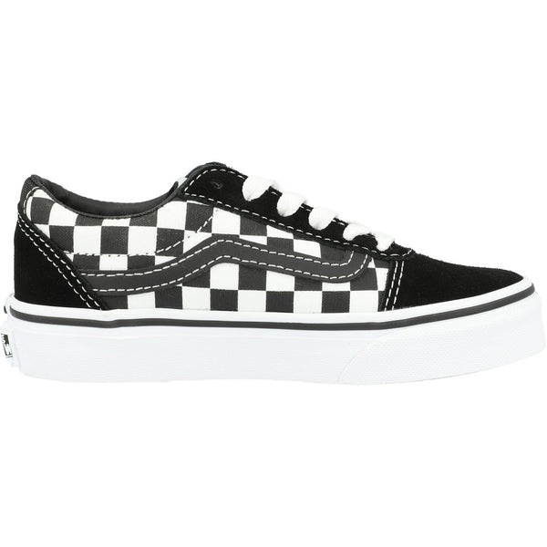 Vans Youth Ward Low-Top Checker Checkerboard Black White Unisex Suede Canvas