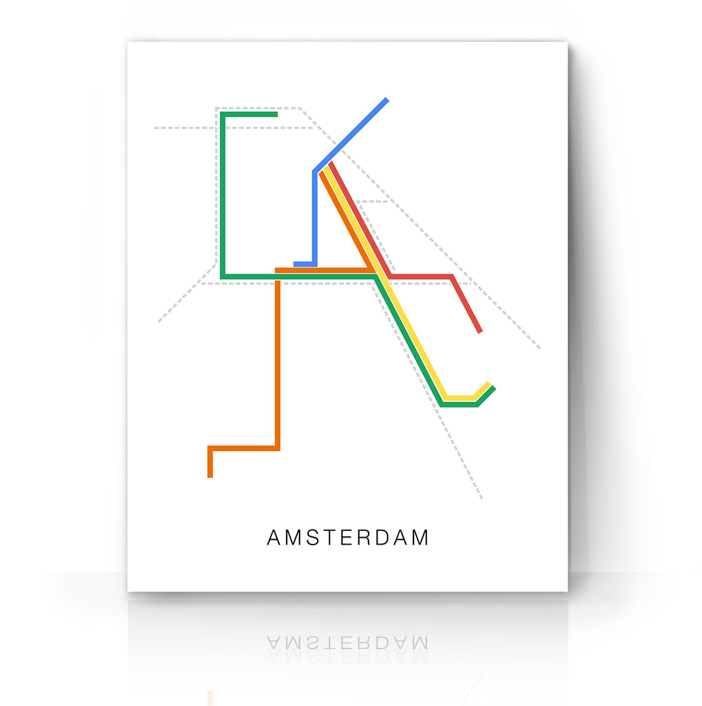 Amsterdam Metro Print by The Camera Graphic