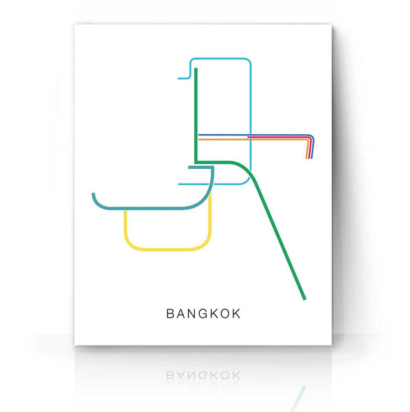 Bangkok Metro Map | The Camera Graphic