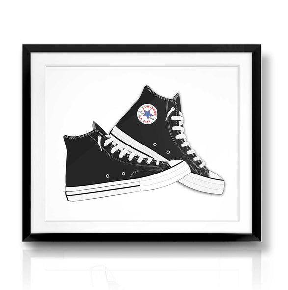Black Converse | The Camera Graphic