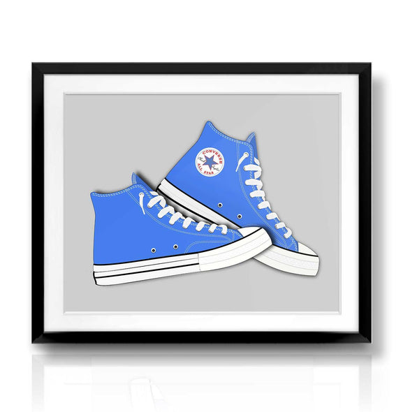 Blue Converse Print | The Camera Graphic