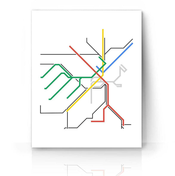 Boston Metro Map | The Camera Graphic