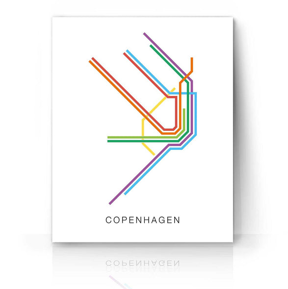 Copenhagen Transit Map | The Camera Graphic
