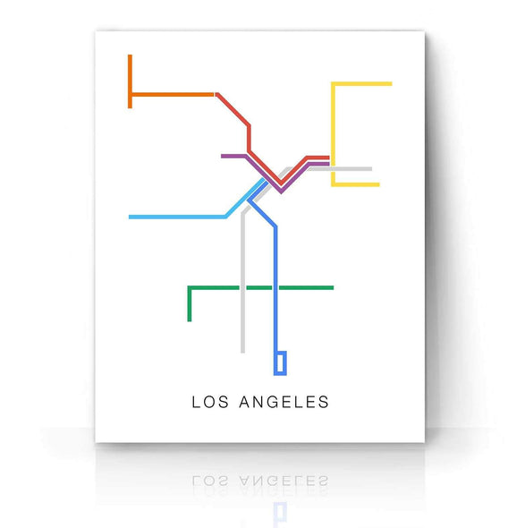 LA Metro Map | The Camera Graphic