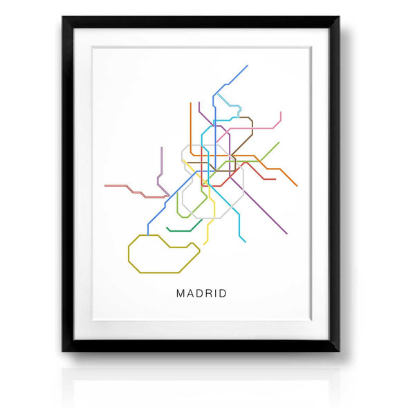 Madrid Transit Map | The Camera Graphic