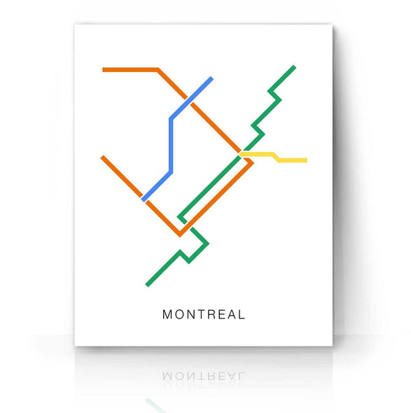 Montreal Metro Map | The Camera Graphic