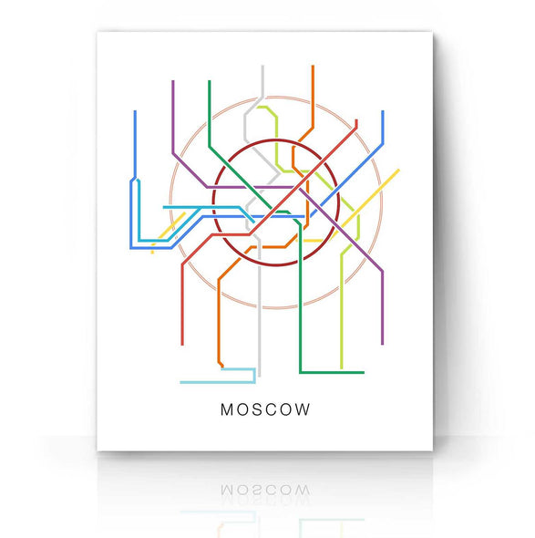 Moscow Metro Map | The Camera Graphic