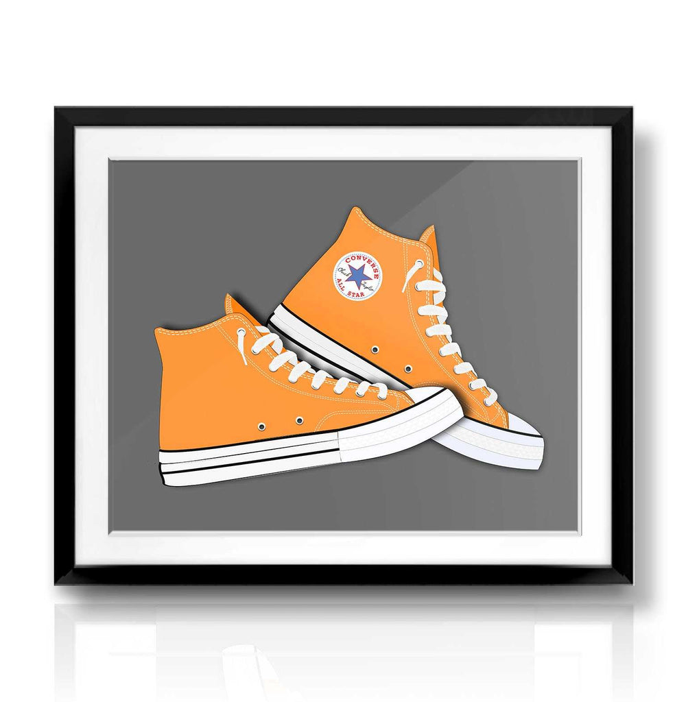 Orange Converse | The Camera Graphic