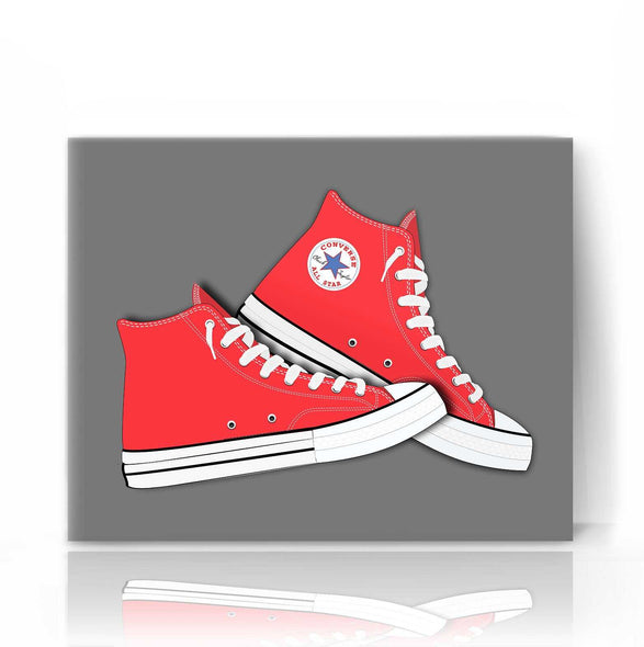 Red Converse | The Camera Graphic