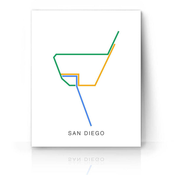 San Diego Trolly Map | The Camera Graphic