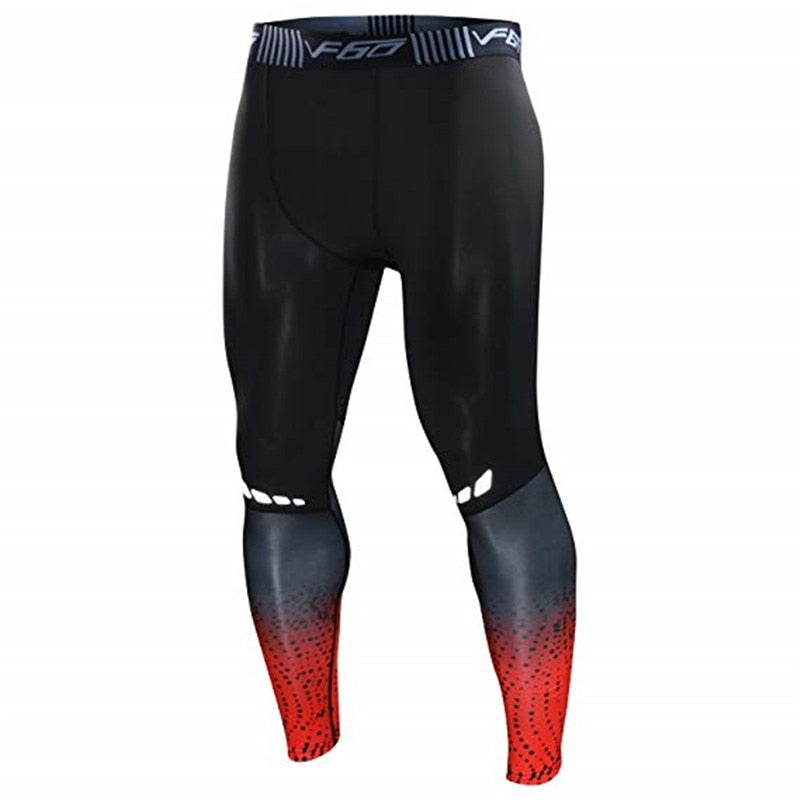 Mens Gym Compression Leggings Sport Training Pants