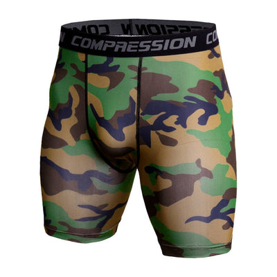 Compression Shorts Men 3D Print Camouflage