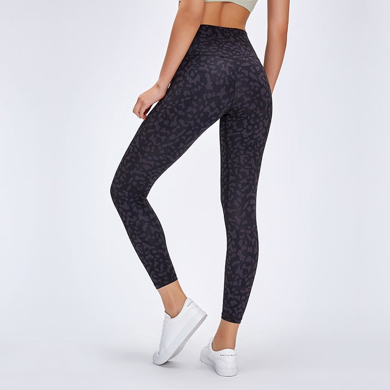 Women High Waist Printed Color Yoga Naked-feel Squat proof Leggings Tummy Control Workout leggings