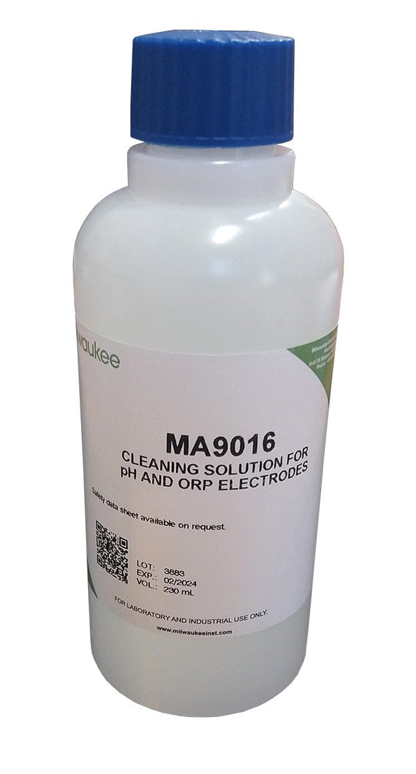 Milwaukee MA9016 Cleaning Solution for pH / ORP Electrodes