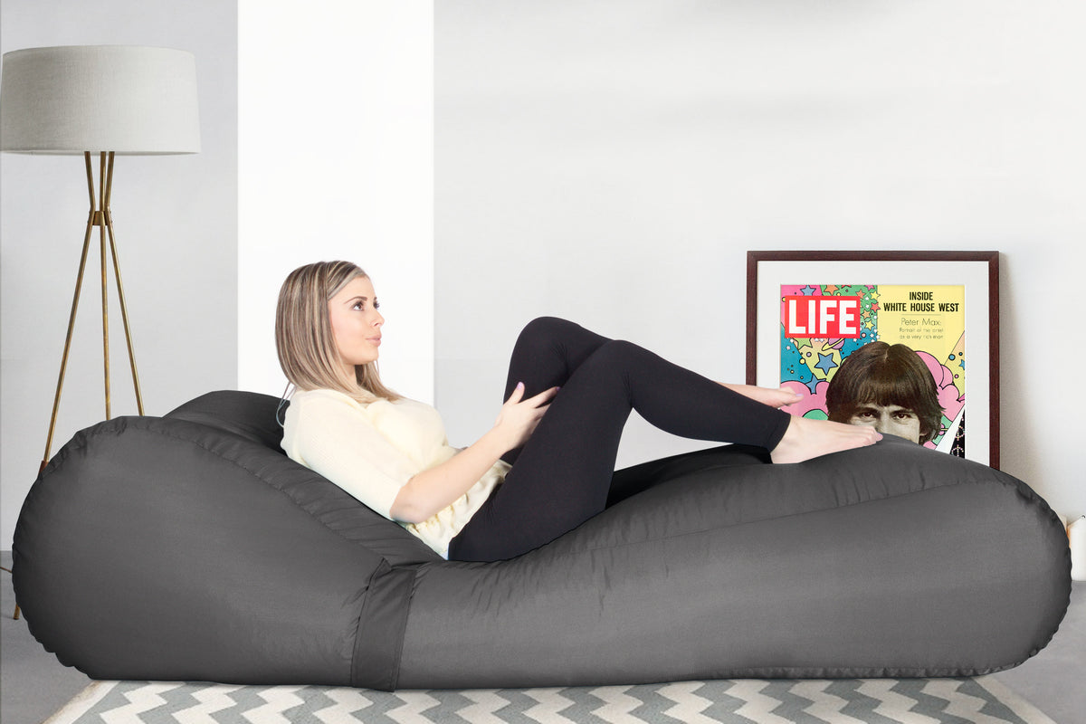 SmartCanvas™ Chaise Bean Bag - Graphite