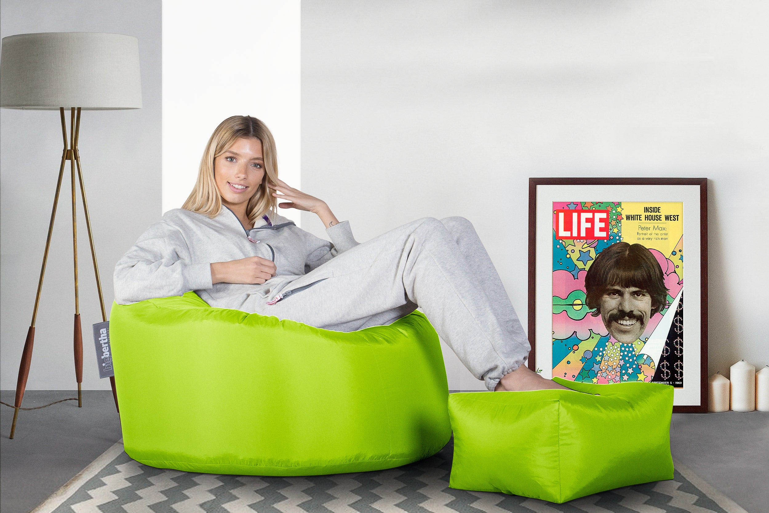 Big Bertha Original™  Indoor / Outdoor Oeuf Beanbag -Lime