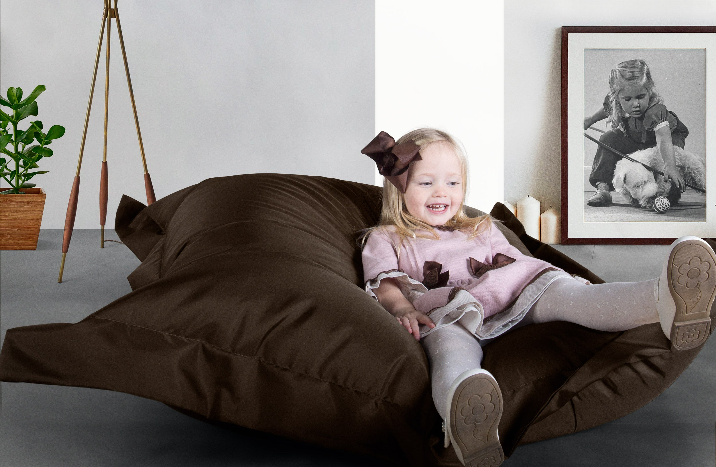 pouf geant big bertha original pouf exterieur marron. Black Bedroom Furniture Sets. Home Design Ideas