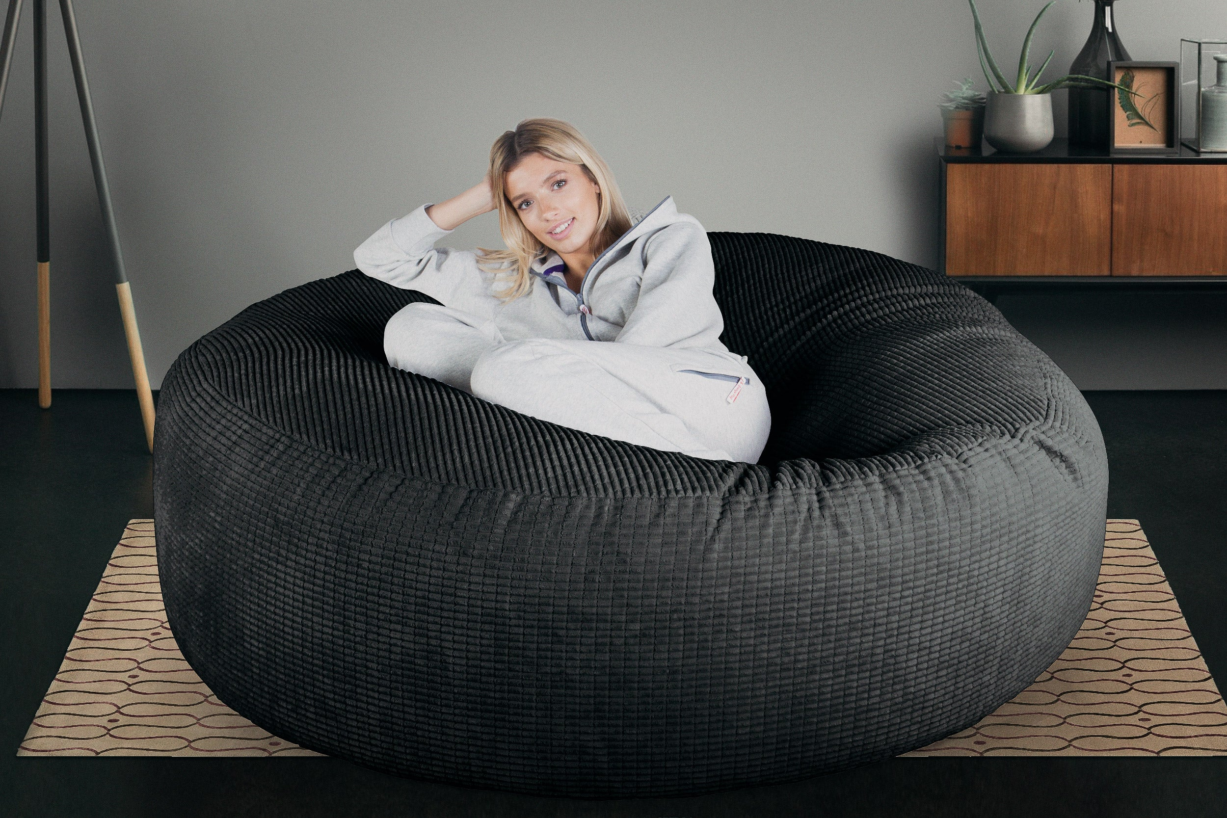 Mega-Mammoth Sofa Sitzsack XXL - Elements Schiefergrau