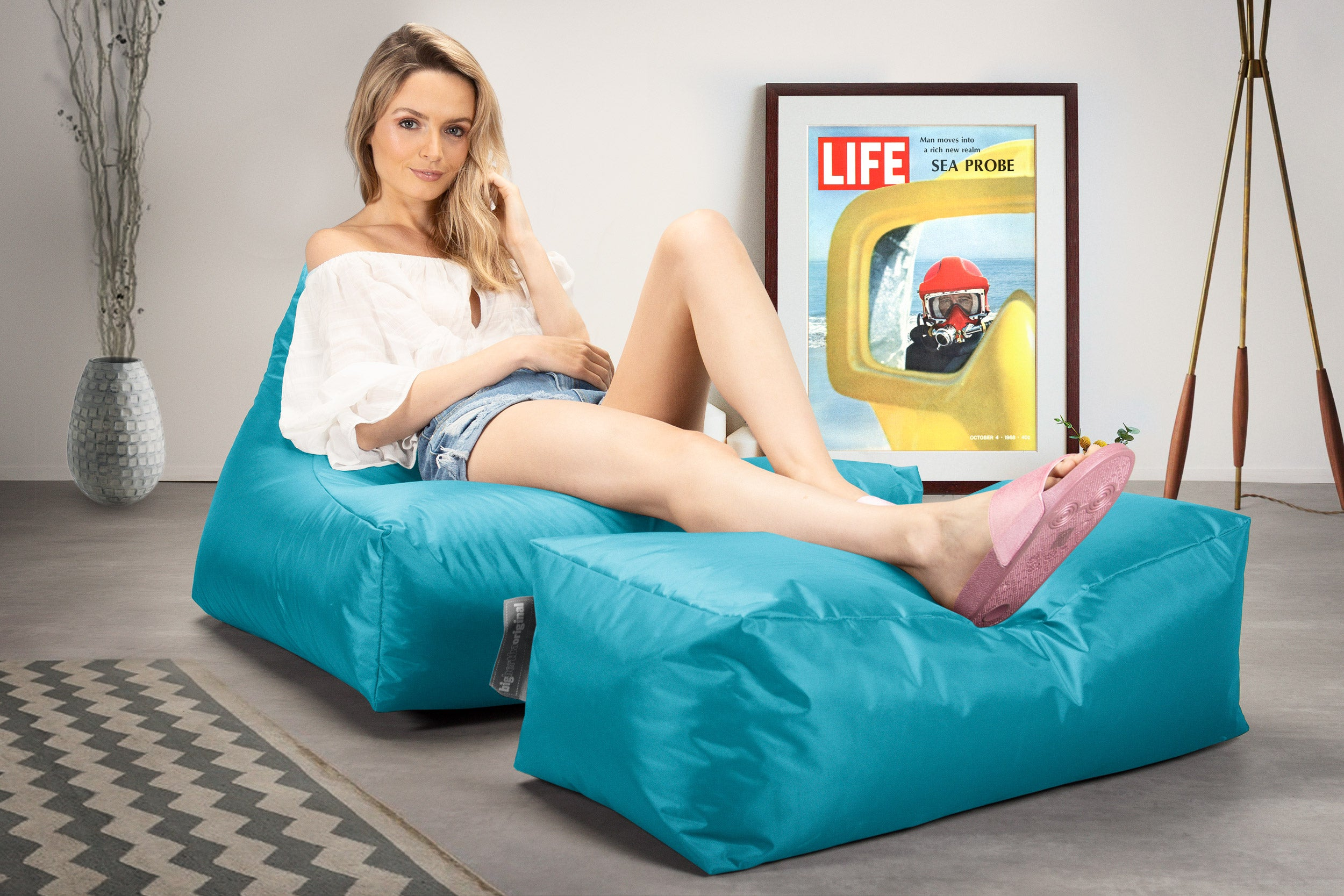 Lounger Sitzsack Outdoor - Aqua