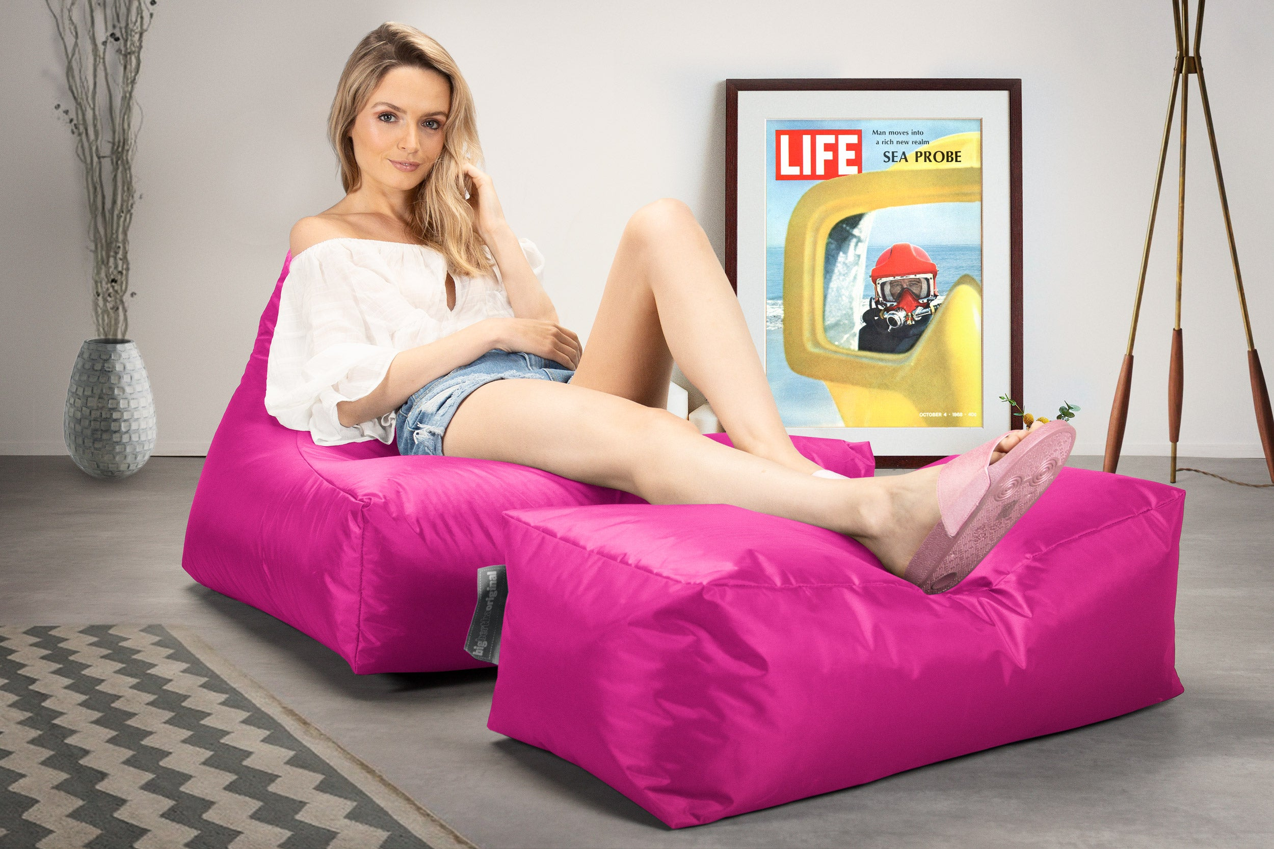 Lounger Sitzsack Outdoor - Pink