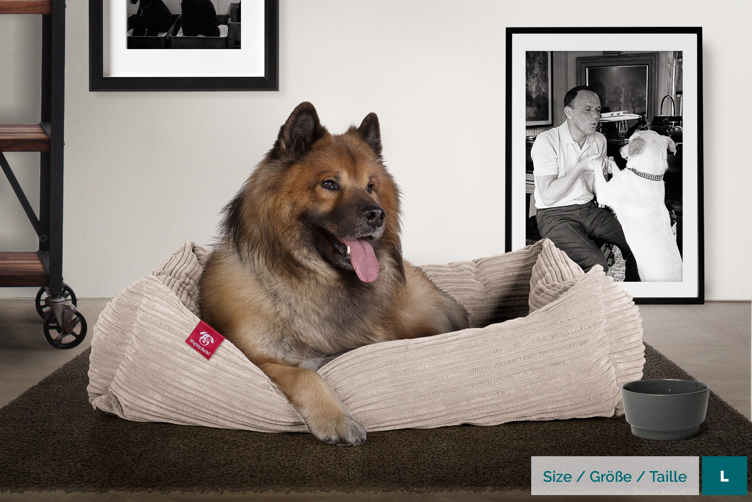 Mighty Bark™ Nest Dog Bed - Cord Mink - Small