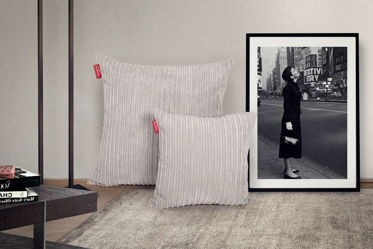 Scatter Cushions (2 sizes : 47cm / 70cm) - Cord Ivory
