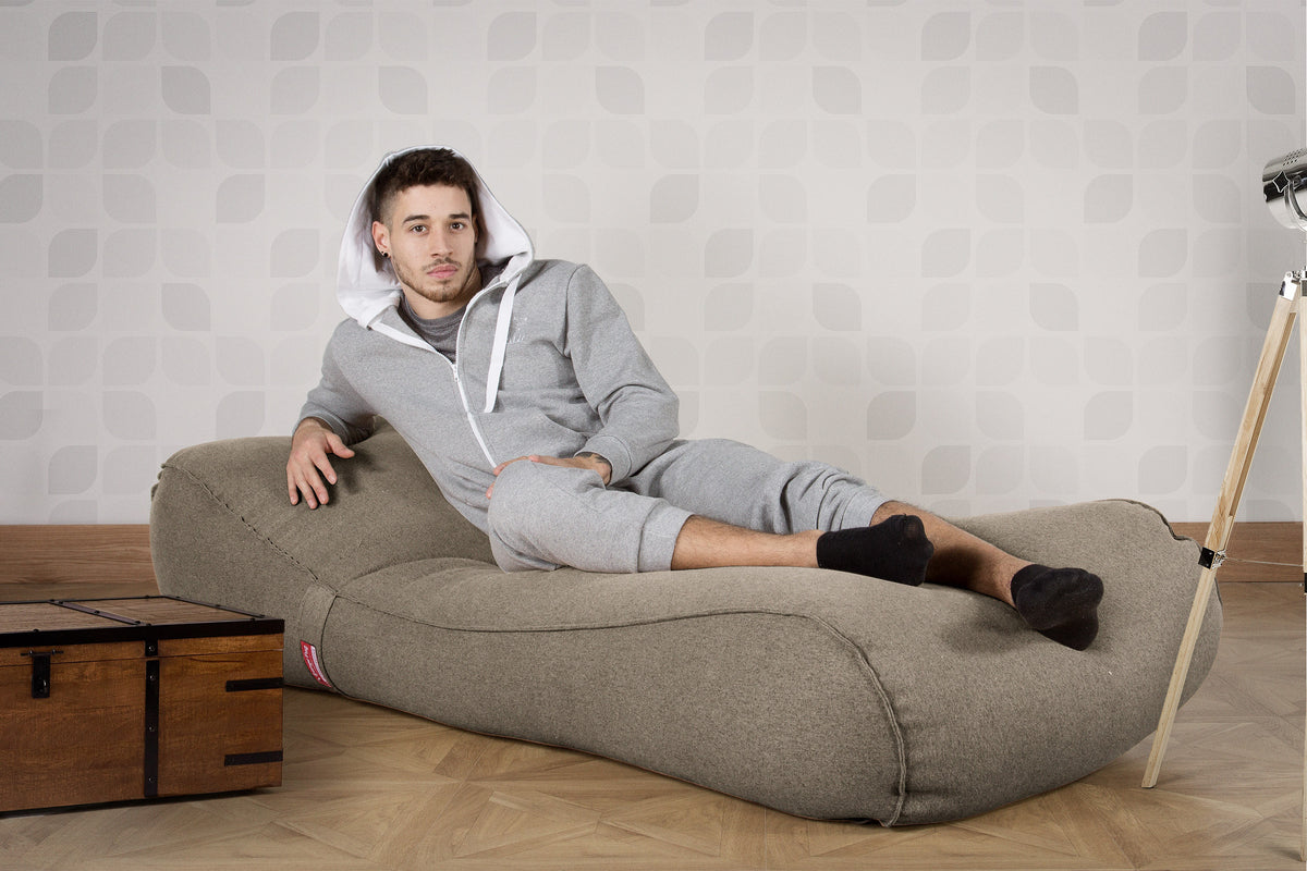 Chaise Lounge Bean Bag - Interalli Silver