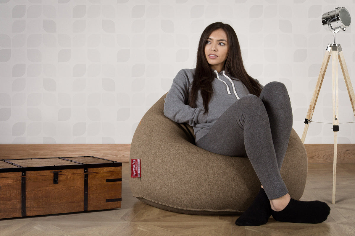 Classic Bean Bag Chair - Interalli Biscuit