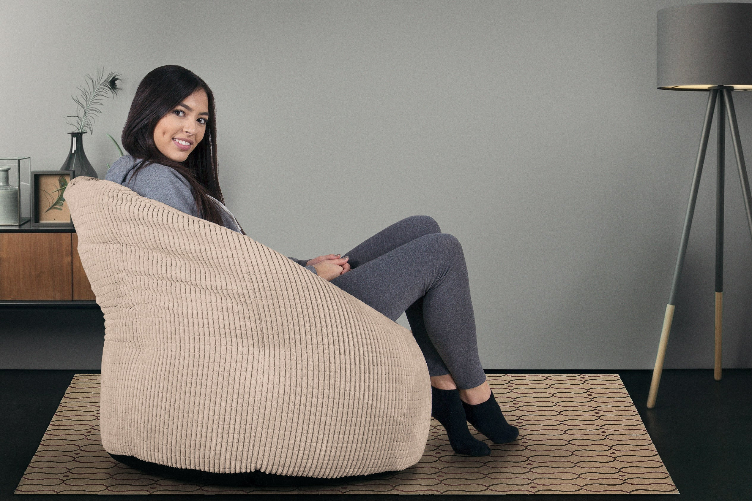 Pouf Chaise Design - Elements Crème